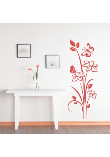 Adesivo Decorativo de Parede Floral Nelumbo