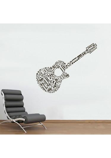 Adesivo Decorativo Violão