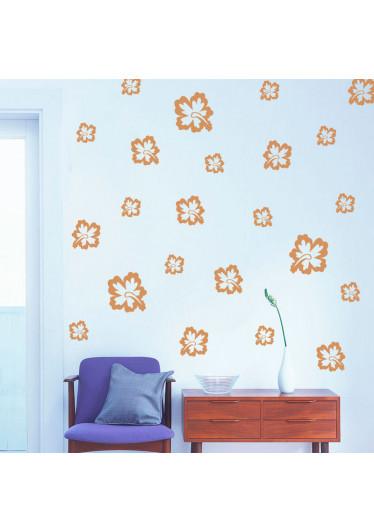 Adesivo Decorativo Kit de Flores Hibisco