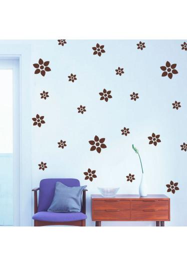 Adesivo Decorativo Kit de Flores Ixoria