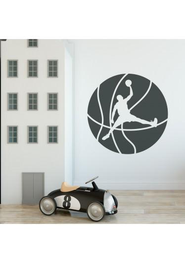 Adesivo de Parede Infantil Basquetebol
