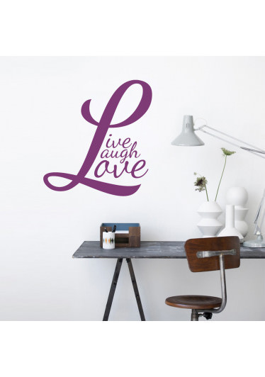 desivo de Parede Live, Laugh, Love