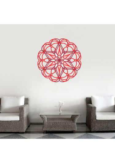 Adesivo de Parede Mandala Colorida