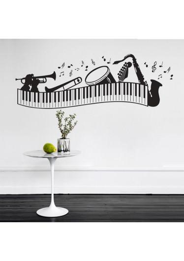 Adesivo Decorativo Instrumentos Musicais