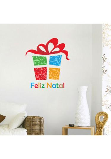 Adesivo Decorativo Presente de Natal