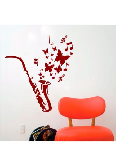 Adesivo Decorativo Saxofone