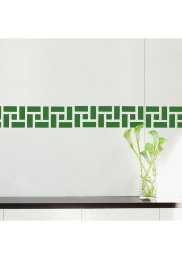 Faixa Decorativa Quadrados Abstratos