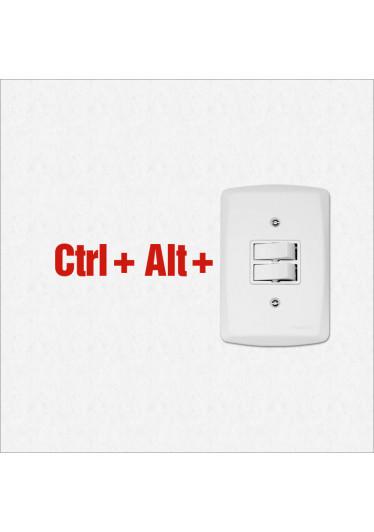 Adesivo de Parede para Interruptor Ctrl + Alt + Del
