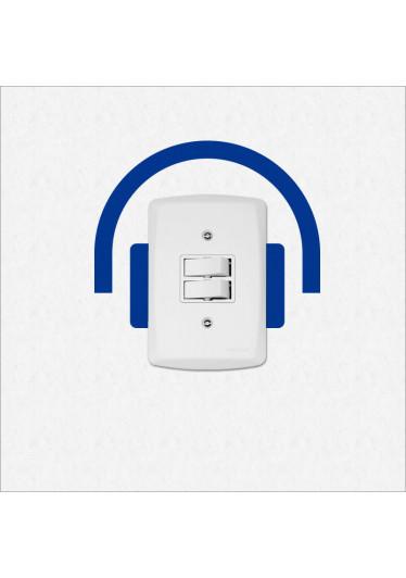 Adesivo para Interruptor Fone de Ouvido