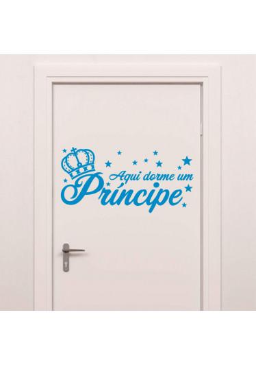 Adesivo de Parede Aqui Dorme uma Príncipe Porta