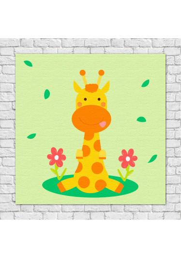 Quadros Decorativos Infantil Animais Divertidos Girafa