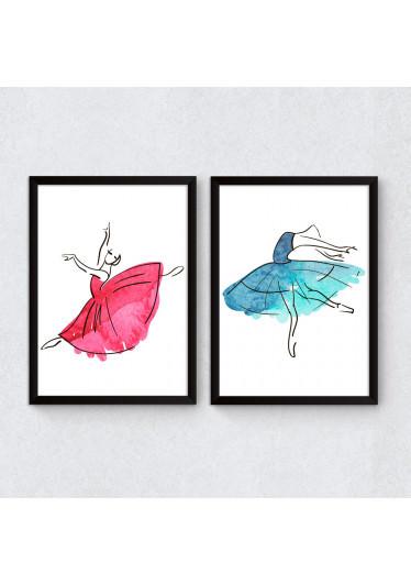 Quadros Decorativos Bailarinas Esboço