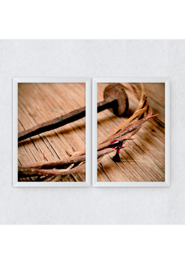 Conjunto de Quadros Decorativos Coroa de Espinhos