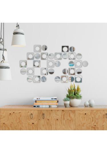Espelho Decorativo Quadrados e Bolas II