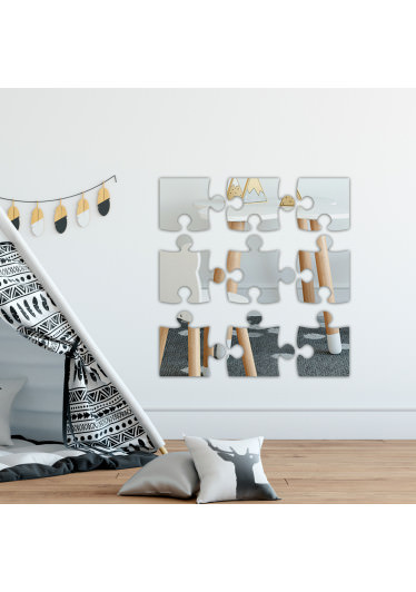 Espelho Decorativo Quebra Cabeça. Confeccionado em Acrílico Espelhado