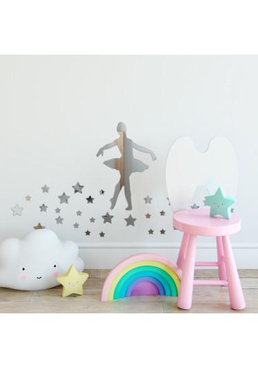Espelho Decorativo Bailarina com Estrelas