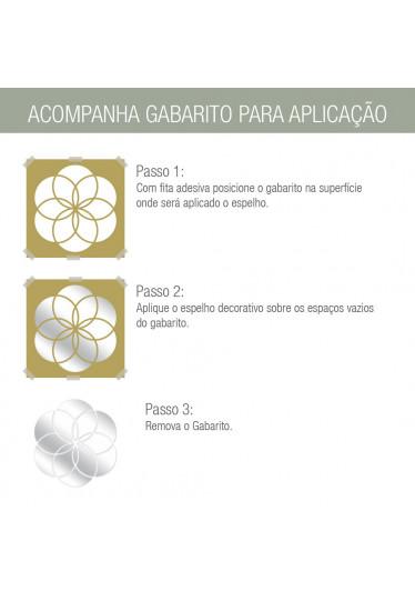 Gabarito - Espelho Decorativo Mandala Abstrata