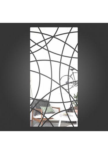 Espelho Decorativo Retângulo Abstrato Vertical