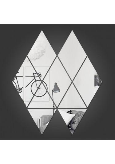 Espelho decorativo Losangos Triangulos