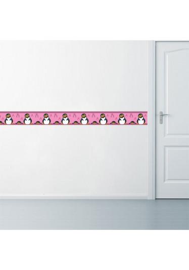 Faixa Decorativa Pinguim Menina Aplicada