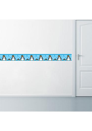 Faixa Decorativa Pinguim Menino Aplicação