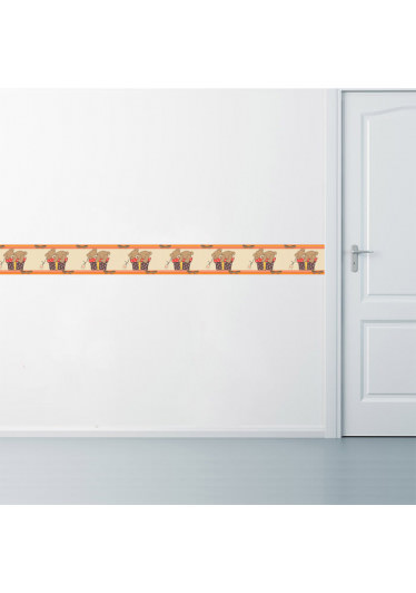 Faixa Decorativa Urso Dorminhoco Aplicação