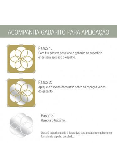 Espelho Decorativo Círculo Abstrato - Gabarito