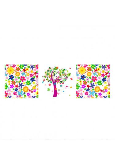 Painel Decorativos Estampa Floral Árvore Abstrata