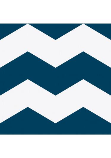 Papel de Parede Chevron Grande (Azul Petróleo)