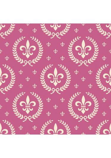 Papel de Parede Infantil Flor de Lis (Pink)
