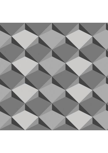 Papel de Parede Abstrato 3D - Cinza