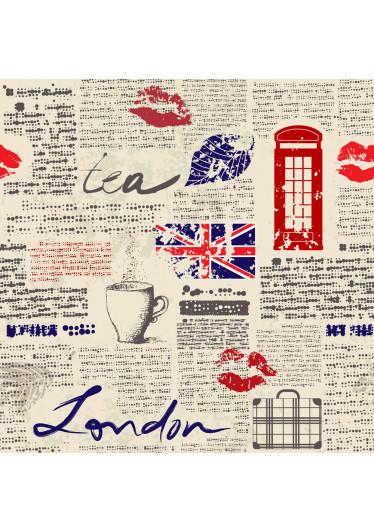 Papel de Parede Recorte de Jornal Londres