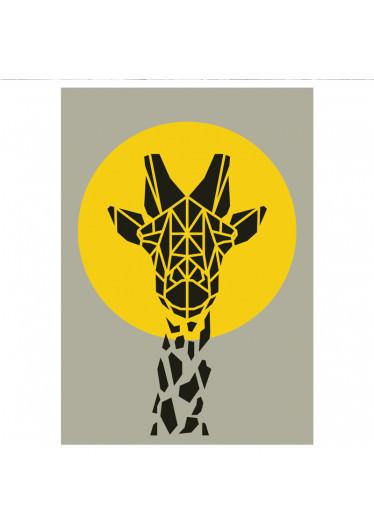 Poster Decorativo Girafa