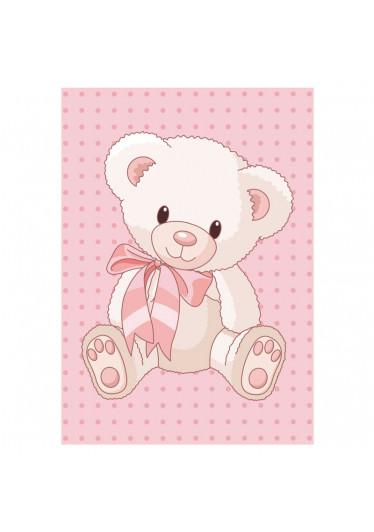 Poster Decorativo Infantil Urso Menina