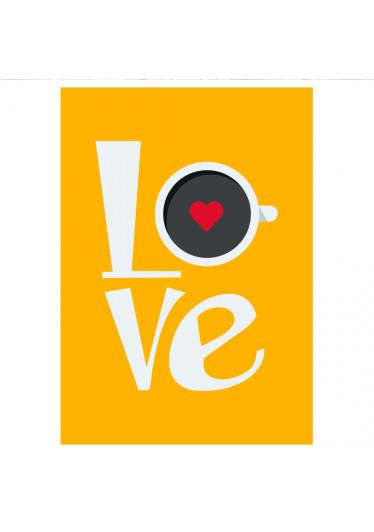 Poster Decorativo Love Café