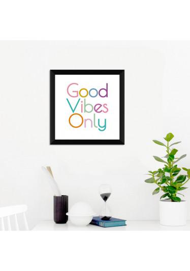 Quadrinho Decorativo Good Vibes Only
