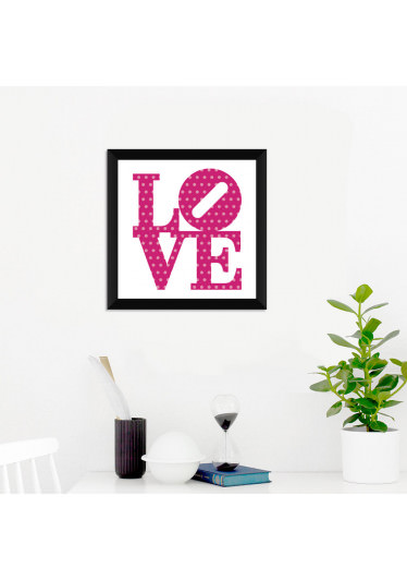 Quadrinho Decorativo Love