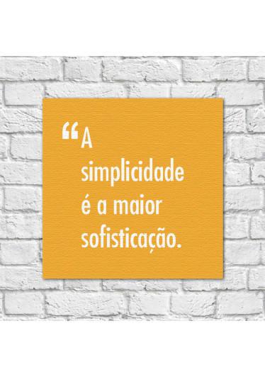 Quadro Decorativo Pensadores Simplicidade Sofisticação Amarelo