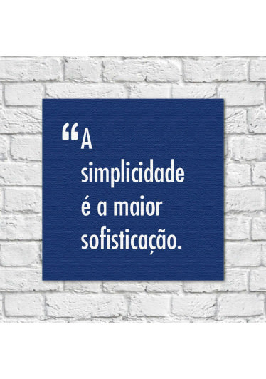 Quadro Decorativo Pensadores Simplicidade Sofisticação Azul