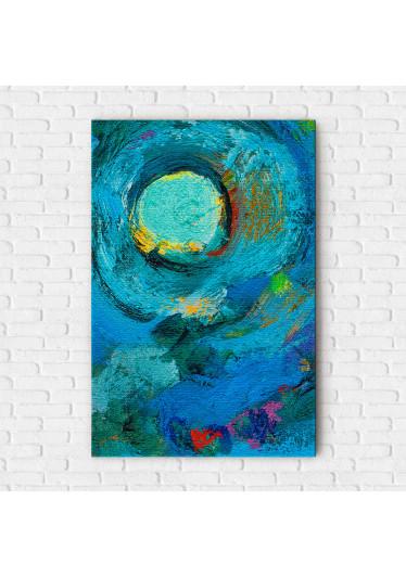 Quadro Decorativo Pintura Abstrata O Círculo