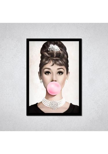 Quadro Decorativo Audrey Hepburn Pop Art