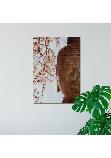Quadro Decorativo Buda e Cerejeira - Em Canvas