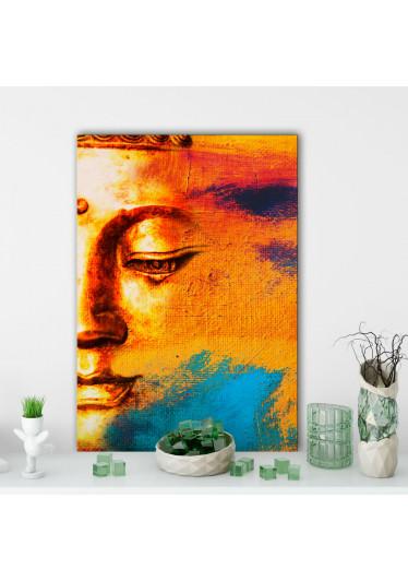 Quadro Decorativo em Canvas Buddah Abstrato