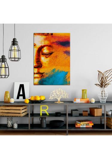Quadro Decorativo Buddah Abstrato em Canvas
