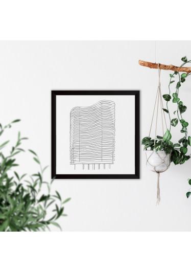 Quadrinho Decorativo Esboço Edifício Niemeyer BH