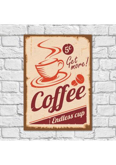 Quadro Decorativo Vintage Coffee