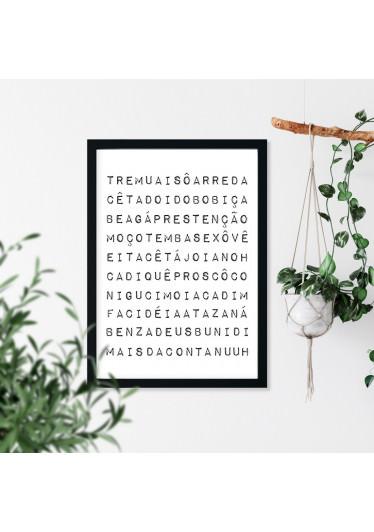 Quadro Decorativo Expressões Mineiras - Mineirês
