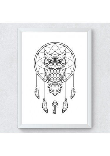 Quadro Decorativo Coruja - Filtro dos Sonhos