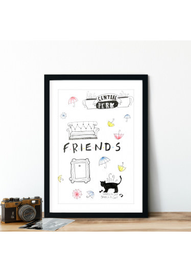 Quadro Decorativo Friends