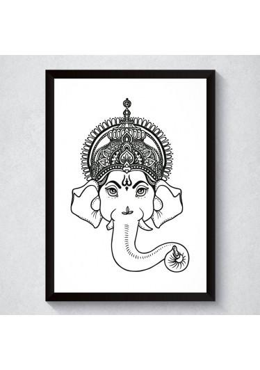 Quadro Decorativo Ganesha